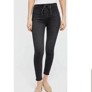 Free People High Lace Legging Jean